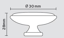 Πόμολο επίπλων Φ30 αντικέ No 01.148