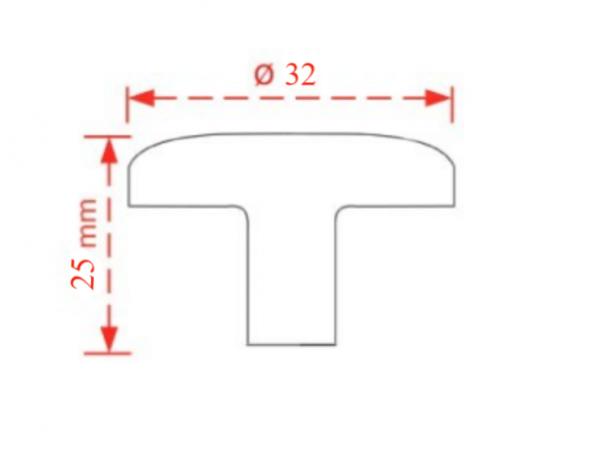 Πόμολο επίπλων αντικέ   Φ25 πορσελάνη No 2050