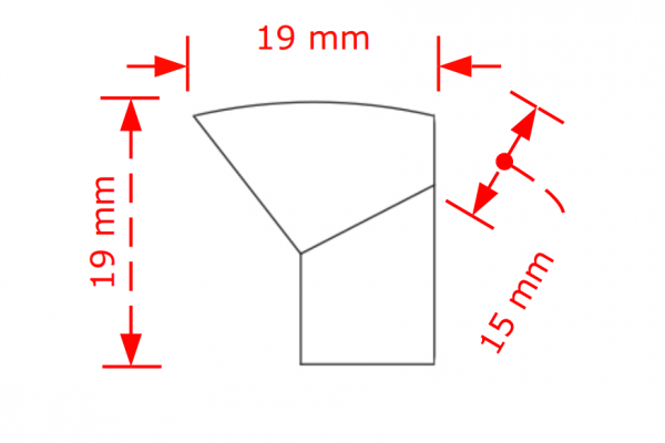 Πομολάκι επίπλων New Φ19  νίκελ ματ Νο 71