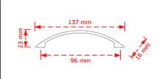Λαβή επίπλων νίκελ ματ   96mm.   137/96