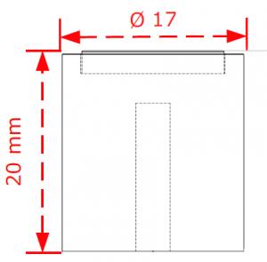 Πομολάκι επίπλων Φ17 χρώμιο ματ-χρώμιο Νο 2431