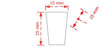 Πομολάκι επίπλων τετράγωνο Νο 73 νίκελ ματ 15x15mm