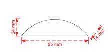 Πομολάκι επίπλων 5,5cm