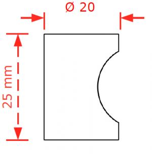 Πομολάκι επίπλων  Φ20 νίκελ ματ Νο 80