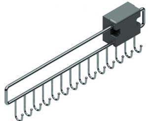 Κρεμάστρα για ζώνες S 6053 συρταρωτή inox 46X12,5X3,5cm