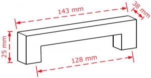Λαβή  επίπλων 12,8cm chrome shiny  2319