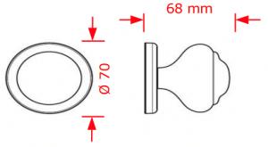 Μπούλ εξώπορτας Φ70 inox mat 2537