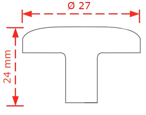 Πομολάκι επίπλων Φ27 αντικέ brass No 341
