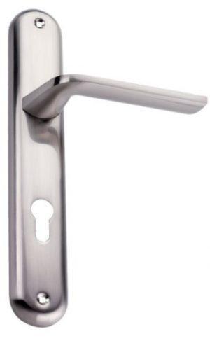 Χερούλι πόρτας πλάκα Ζεύγος νίκελ ματ  4085
