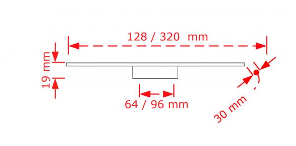 Πόμολο επίπλου  χρώμιο γυαλιστερό  2914/64