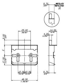 Κλειδαριά Συρταριών Κουτιαστή πλαστική 318-02431