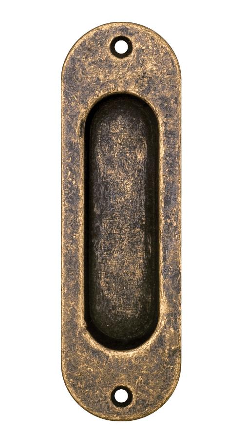 Χούφτα συρόμενης πόρτας αντικέ Κ302  Roline 12,0x3,0cm