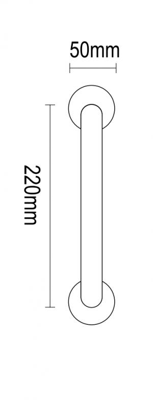 Λαβή πόρτας 22cm νίκελ κρακελέ 04.770