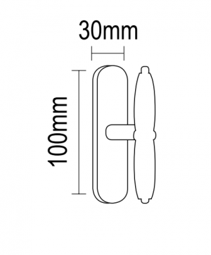 Γρυλόχερο παραθύρων ορειχάκλινο σε αντικέ πορσελάνη   08.590