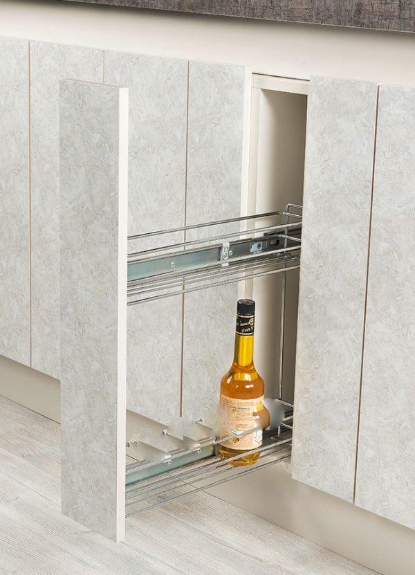 Βαγονέτο κουζίνας S 2211 συρόμενο  κάτω πάγκου  για κουτί 15cm