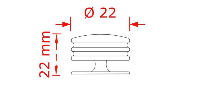 Πόμολο Import hellas 6070 νίκελ ματ Φ22