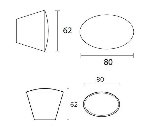 Μπούλ εξώπορτας Φ80 μαύρο  No 479 convex