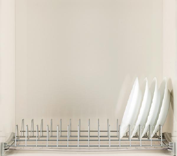Πιατοθήκη ντουλαπιού νέου τύπου καθιστή-κρεμαστή επινικελωμένη  65cm