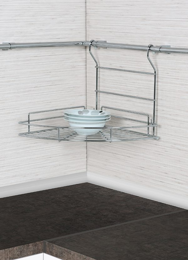 Καλάθι γωνιακό κρεμαστό κουζίνας S 4008 ΙΝΟΧ  315x335x300 mm