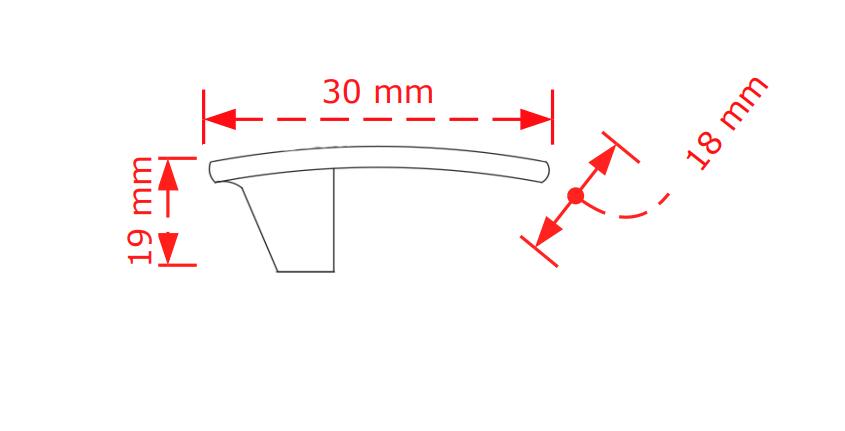 Πόμολο επίπλων   νίκελ ματ Νο 76 3,0cm