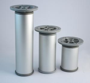 Πόδι επίπλων  10cm  αλουμινίου στρόγγυλο