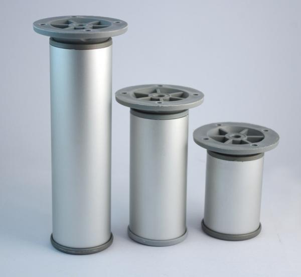 Πόδι επίπλων 25cm  αλουμινίου στρόγγυλο