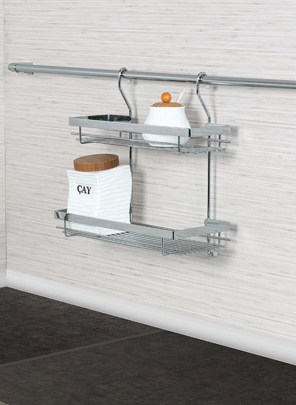 Κρεμαστό διπλό ράφι κουζίνας S 4006 inox   350x140x360 mm