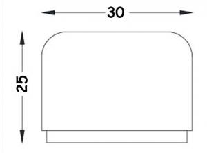 Στοπ Πόρτας Πλαστικό Βιδωτό και Αυτοκόλλητο  3cm