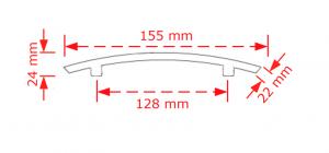 Λαβή επίπλων vindage αντικέ  155/128