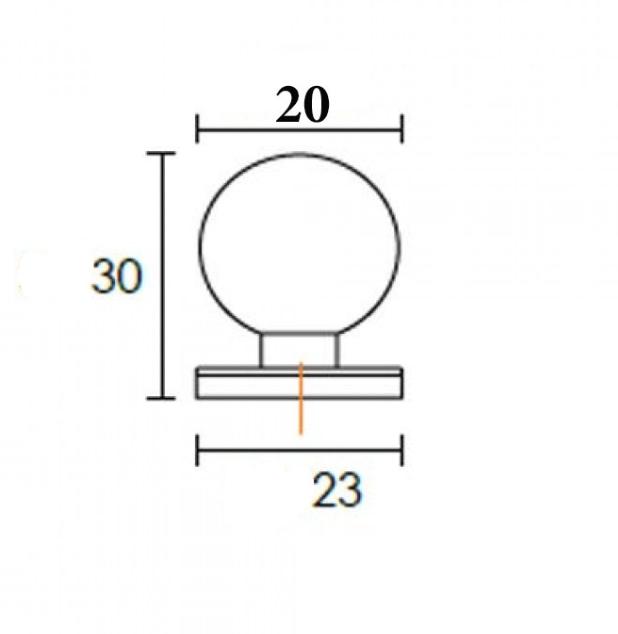 Πομολάκι επίπλων Μπίλια Φ22 σε νίκελ ματ 6050