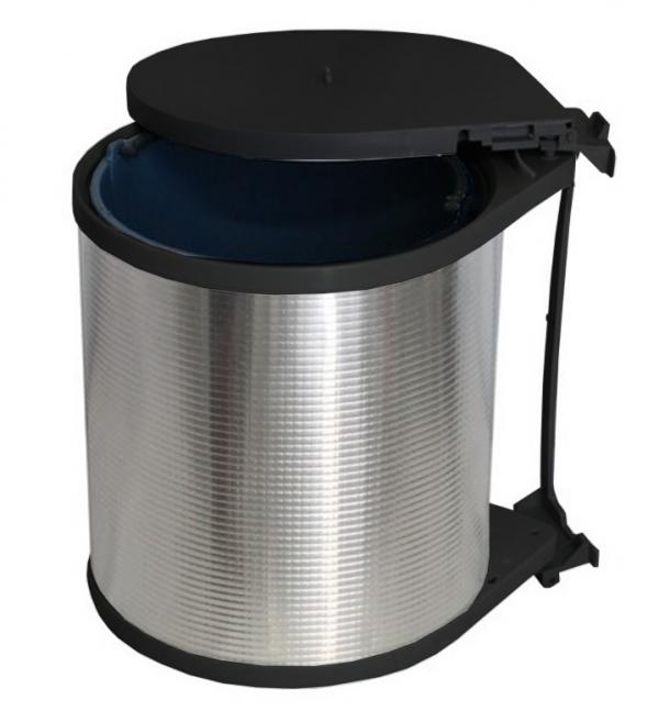 Κάδος Απορριμμάτων κουζίνας αλουμινίου με μηχανισμό   13lit