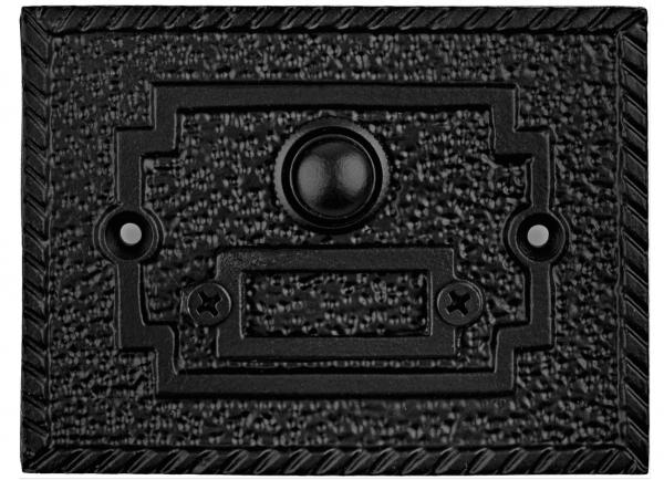 Κουδούνι εξώπορτας 7,5x10,0cm μαύρο Κ396