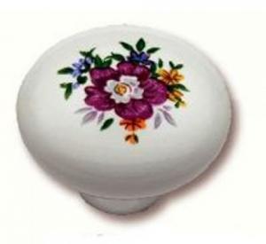 Πόμολo Επίπλων 3,2cm Πορσελάνη λουλούδι 3054-3