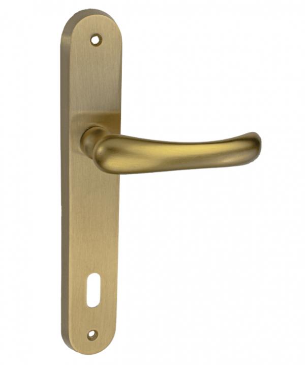 Χερούλι πόρτας πλάκα χρυσό ματ  64