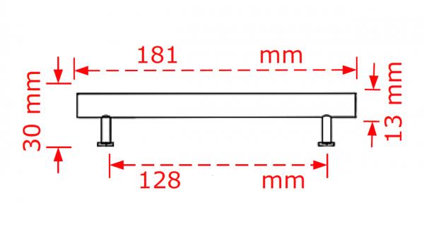 Λαβή επίπλων αλουμινίου χρυσό ματ No 162  12,8cm