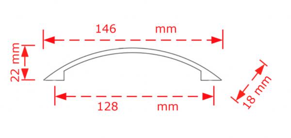 Λαβή επίπλου 12,8cm αντικέ silver Νο 164
