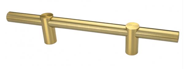 Λαβή εξώπορτας inox χρυσή ματ στρόγγυλη  230