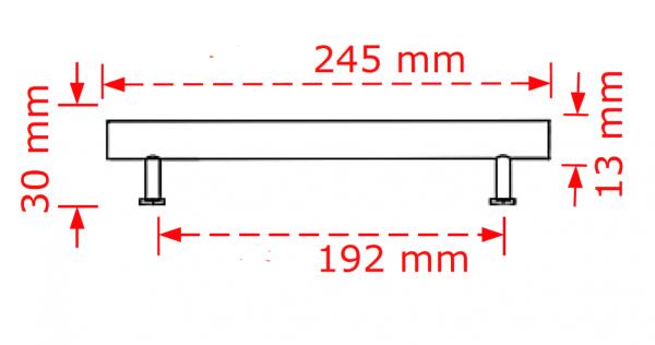 Λαβή επίπλων αλουμινίου χρυσό ματ No 162  19,2cm