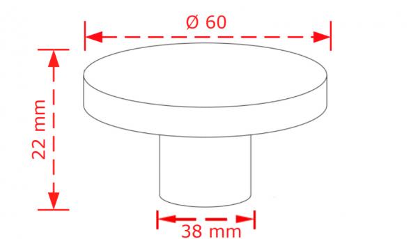 Πόμολο επίπλων ανθρακί 6,0cm No 2003